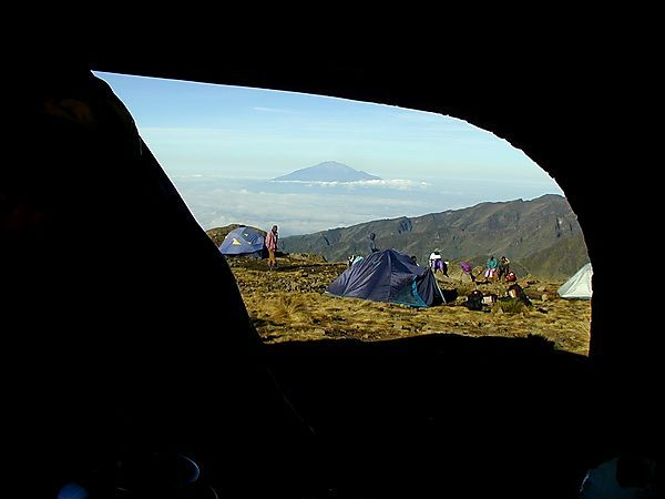 Tent With A View, Machame Route, Kilimanjaro, Tanzania